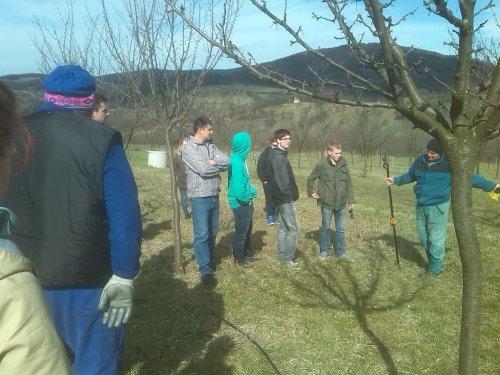 Studenti na praxi v ekologické farmě Javorník s.r.o.