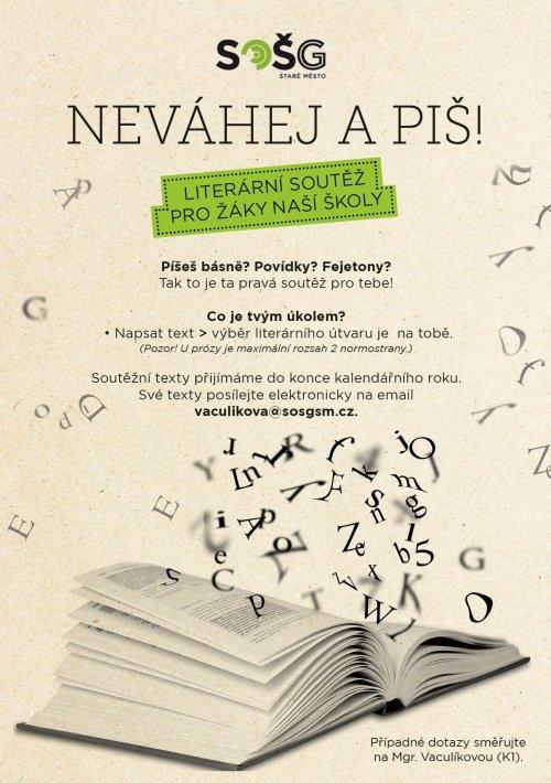"""Výsledky literární soutěže """"Neváhej a piš!"""""""